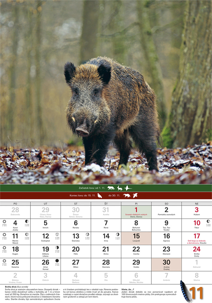 20aee7cc1 Nástenný Poľovnícky kalendár - Agrafik, spol. s r.o.